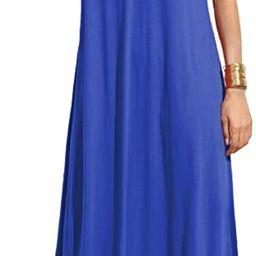 Verdusa Women's Casual Sleeveless Deep V Neck Summer Beach Maxi Long Dress | Amazon (US)