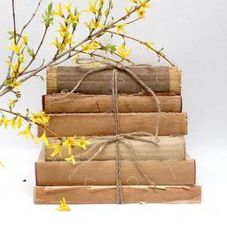 Rustic Farmhouse Decorative Books   Distressed Book Set   Neutral Shabby Chic Interior Design   F...   Etsy (US)