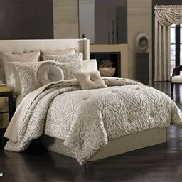 J. Queen New York Astoria Comforter Set in Sand | Bed Bath & Beyond