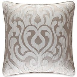 J. Queen New York Astoria 18-Inch Square Throw Pillow in Sand | Bed Bath & Beyond