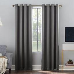 Sun Zero® Oslo 95-Inch Grommet 100% Blackout Curtain Panel in Gray | Bed Bath & Beyond