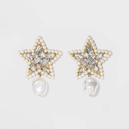 SUGARFIX by BaubleBar Mixed Media Star Earrings - Pearl | Target