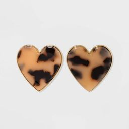 SUGARFIX by BaubleBar Tortoise Shell Heart Earrings - Tortoise | Target