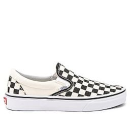 Vans Classic Slip On in Black and White Checker & White from Revolve.com | Revolve Clothing (Global)