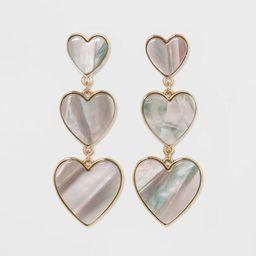 SUGARFIX by BaubleBar Triple Tier Heart Drop Earrings | Target