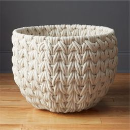 Conway Large White Rope Basket + Reviews   CB2   CB2