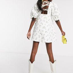 ASOS DESIGN denim printed smock mini dress | ASOS US
