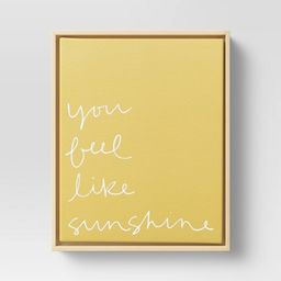 """8"""" x 10"""" You Feel Like Sunshine Printed Canvas Yellow - Project 62™ 