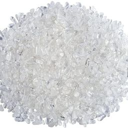 Top Plaza Natural Clear Quartz Tumbled Chips Crushed Stones Reiki Healing Quartz Crystals Irregul... | Amazon (US)