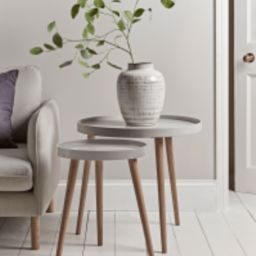 Mila Side Tables - Grey | Cox and Cox