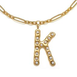 """""""K"""" Pearl Initial Talisman Necklace 