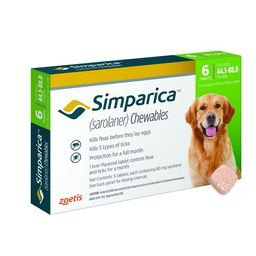 Simparica Chewable Tablets for Dogs, 44.1-88 lbs (Green Box) | Chewy.com