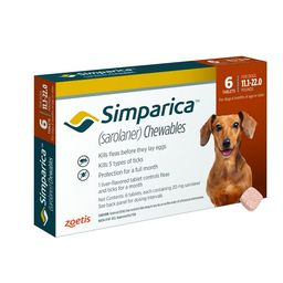 Simparica Chewable Tablets for Dogs, 11.1-22 lbs (Orange Box) | Chewy.com