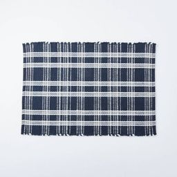 Windsong Indoor/Outdoor Plaid Scatter Rug Navy - Threshold™ designed with Studio McGee | Target