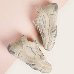 Lace-up Front Chunky Sneakers | ROMWE