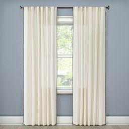 Stitched Edge Curtain Panel - Threshold™   Target