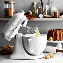 KitchenAid Artisan White Mixer with Hobnail Bowl | Williams-Sonoma
