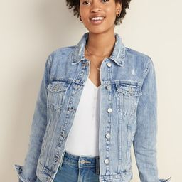 Distressed Jean Jacket for Women   Old Navy (US)