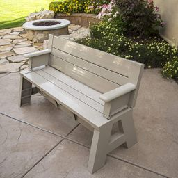 """Premiere Products 5RCATA Tan Convert A Bench, Approximate Size: Table 27"""" H x 14"""" D 31"""" H x 58"""" L...   Amazon (US)"""