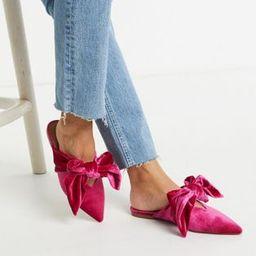 ASOS DESIGN Wide Fit Letty bow slingback ballet flats in pink   ASOS UK
