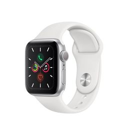 Apple Watch Series 5 GPS, 40mm Silver Aluminum Case with White Sport Band - S/M & M/L   Walmart (US)