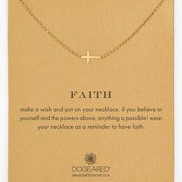 Women's Dogeared 'Reminder - Faith' Sideways Cross Pendant Necklace | Nordstrom