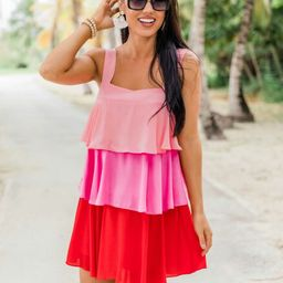 Good Weekend Vibes Pink Colorblock Dress   The Pink Lily Boutique
