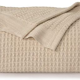 Bedsure 100% Cotton Thermal Blanket - 405GSM Soft Blanket in Waffle Weave for Home Decoration - P... | Amazon (US)