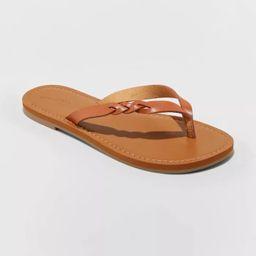 Women's Bobbie Braided Thong Flip Flop Sandals - Universal Thread™ | Target