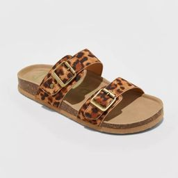 Women's Keava Double Band Footbed Sandals - Mad Love Brown | Target