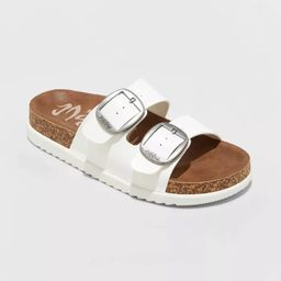 Women's Mad Love Genna Platform Footbed Sandals - White | Target