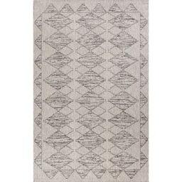 Domani Distressed Scandinavian Tribal Outdoor Area Rug - 6'7 x 9'6 - Grey | Overstock