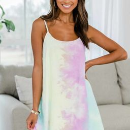 Candy Dreams Tie Dye Shift Dress | The Pink Lily Boutique
