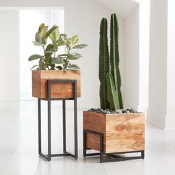 Arcaydia Floor Planters   Crate and Barrel   Crate & Barrel