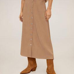 Button long skirt | MANGO (UK)