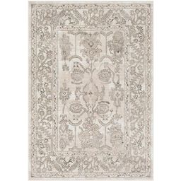 Surya Rafetus Charcoal Indoor Oriental Area Rug (Common: 8 x 10; Actual: 94-ft W x 122-ft L) Lowe... | Lowe's