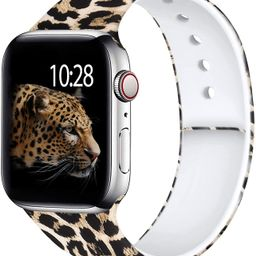 Laffav Compatible with Apple Watch Band 40mm 38mm 44mm 42mm for Women Men, Elegant Pattern Soft S... | Amazon (US)