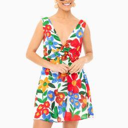 Printed Plunge Ruffle Mini Dress | Tuckernuck