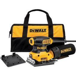 DEWALT 2.3 Amp 1/4 Sheet Palm Grip Sander Kit with Contractor Bag-DWE6411K - The Home Depot | The Home Depot