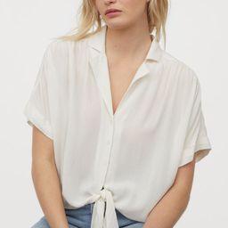 Tie-hem Blouse   H&M (US)