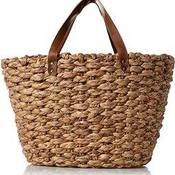 Woven Women Bag for Beach Picnic Grocery Sturdy Basket Bag | Amazon (US)