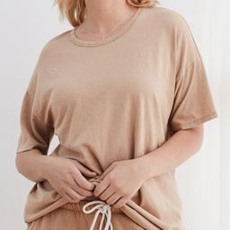 Aerie Boyfriend Distressed Oversized T-Shirt | American Eagle Outfitters (US & CA)