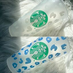 Color Changing Starbucks   Color changing vinyl   custom cups   leopard cup   Etsy (US)
