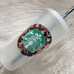 LV Rose Gold Starbucks Cup   Tumbler   Custom Name FREE   Etsy (US)