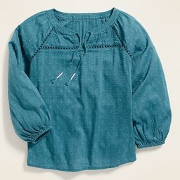 Textured Tie-Neck Blouse for Girls | Old Navy (US)