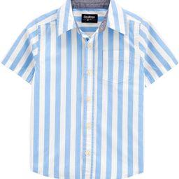 Striped Short Sleeve Button-Front Shirt | OshKosh B'gosh