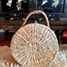 Handwoven Straw Bag,Large Round Straw Bag,Round Straw Beach Bag,Round Straw Basket Bag,Round Straw C | Amazon (US)