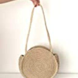 Natural Round Straw Raffia Shoulder bag/Handwoven bag/Market Handbag/Summer Tote/Gifts for her/Handm   Amazon (US)