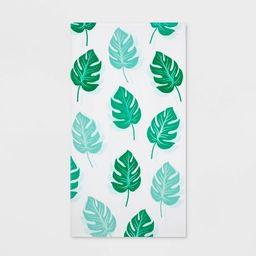 Printed Palm Leaf Beach Towel Green - Sun Squad™ | Target