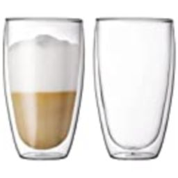 Bodum Pavina Glass, Double-Wall Insulate Glass, Clear, 15 Ounces Each (Set of 2) | Amazon (US)